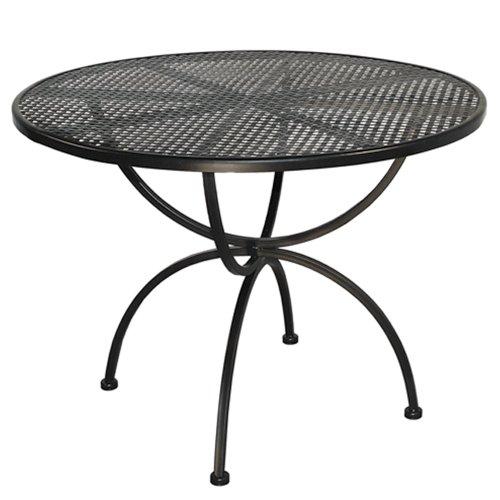 MBM 156137 Tisch Romeo, Durchmesser 100 x 73 cm, Eisengestell Plattenfarbe marone antik