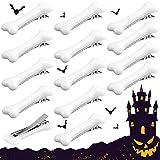18 Pièces Pinces à Cheveux d'Os de Chien Blanc, Épingles à Cheveux d'Os Barrette pour Halloween et Cosplay