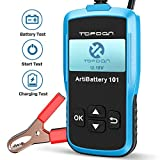 Car Battery Tester - 12v Car Auto Battery Load Tester on Cranking System and Charging System Scan Tool, TT Topdon AB101 100-2000 CCA Battery Tester Automotive for Cars/SUVs/Light Trucks