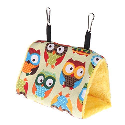 Tandou Hamaca para colgar de loros, jaula para pájaros de invierno cálida jaula de juguetes para hámster (2)