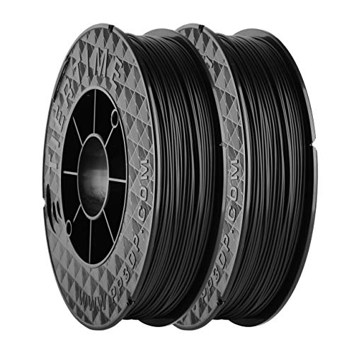 UP Fila Premium ABS 3D Printer Filament, Low Odor, Consistent 1.75mm Diameter,1KG (500g×2 Spools), Black