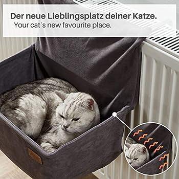 PiuPet® Hamac Chat radiateur - Convient à Tous Les radiateurs Courants - Hamac radiateur Chat - Convient également aux pour Les Chats jusqu'à 7kg - lit radiateur Chat