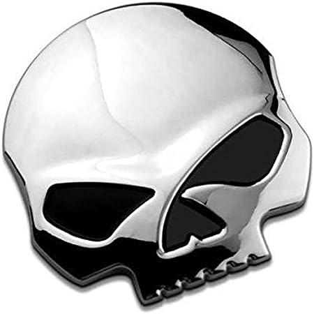 Auto Motorrad Metall Aufkleber 3d Metall Sticker Alien Kopf Form Silber Auto