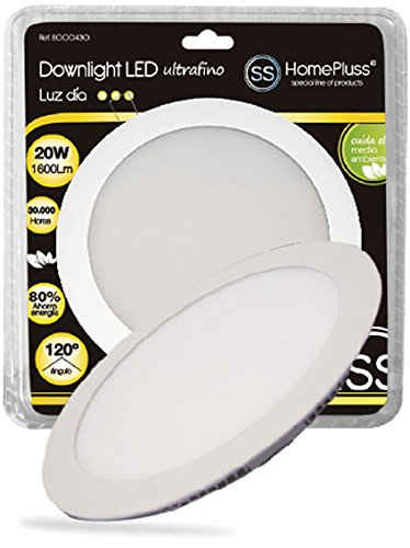 Homepluss 8000432 - Downlight Plano Led 20W 4200K Niquel Sat