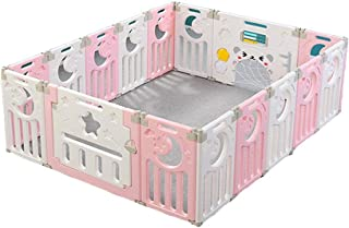Baby Fence, Children's Indoor Play Fence, Foldable Baby Toddler Crawling Activity Center Fence (Size : 150 * 110cm)