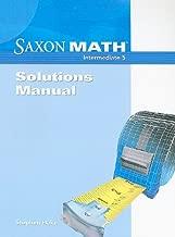 Saxon Math: Intermediate 5, Solutions Manual