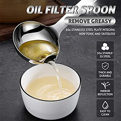 BOLUOYI Oil Filter Spoon Stainless Steel Soup O...