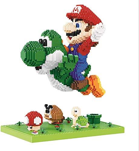 RSVT Flying Mario Building Blocks para Niños 3300Pcs Yoshi Dibujos Animados Anime Figuras Serie Bloques De Construcción Juguete Educativo Niños Regalos