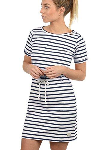 BlendShe ENA Damen Sweatkleid Sommerkleid Kleid Mit Rundhals Aus 100{c498b3c7756a7fc77ffd2fc2879739b1b831fcb28216acda3ed908934b0545e2} Baumwolle, Größe:M, Farbe:Mood Indigo (20064)