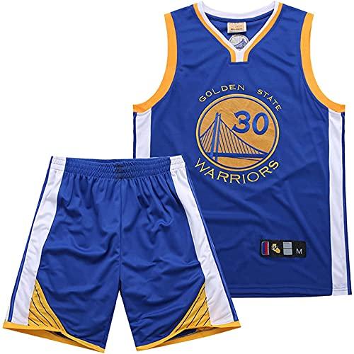 XFKL Camiseta De Baloncesto NBA 30# Chaleco Deportivo + Pantalones Cortos Conjunto De Dos Piezas Secado Rápido Y Transpirable,Chaleco Deportivo Unisex Adulto,A,S