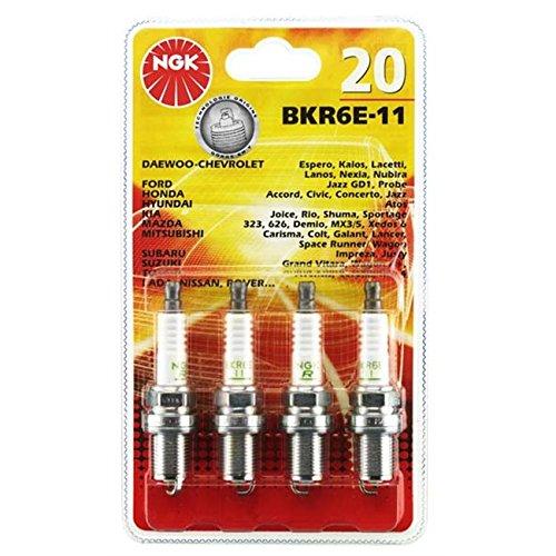 NGK NGK20 Blister 4 Zündkerzen Bkr6E-11