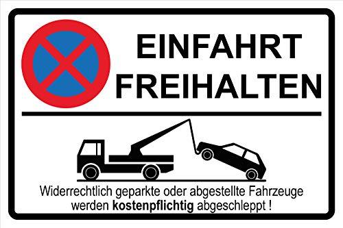 Einfahrt freihalten | Parken verboten | Parkverbot | Aufkleber | Schild Hinweisschild (Aufkleber, 15 x 10cm)