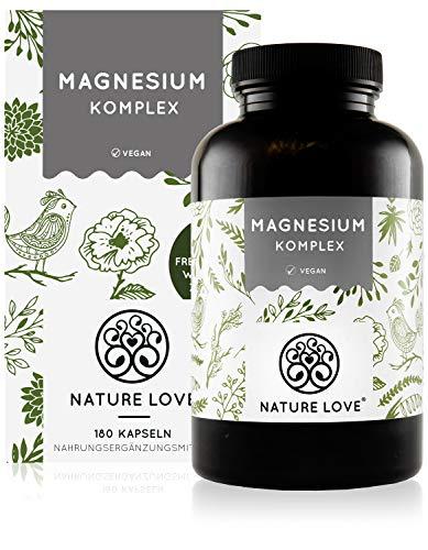 Magnesium Komplex - 400mg elementares Magnesium je Tagesdosis. Magnesiumcitrat, Magnesiumoxid, Magnesiumbisglycinat, Magnesiummalat, Magnesiumscorbat. Vegan, hochdosiert, Made in Germany