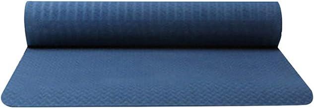 $23 » Classic Yoga Mat - TPE Non Slip Fitness Exercise Mat Workout Mat for Yoga 0.5CM Thick High Density Fitness Pilates Mat Home Exercise Mat - Light & Easy to Carry - 183 X 61 X 0.6CM (Dark Blue)