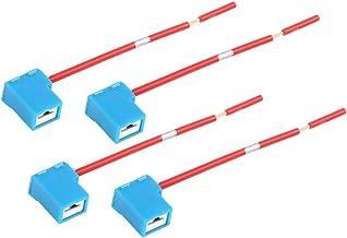 uxcell DC 12V H1 H3 Car Light Socket Ceramic Headlight Wire Harness Connector 4pcs