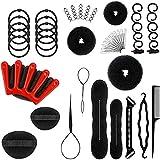 accessori per capelli, hyadiertech set di acconciature hair styling tool, mix accessori set gioielli per capelli donne ragazze per diy, capelli donne per clip di capelli, rilievi, capelli pins