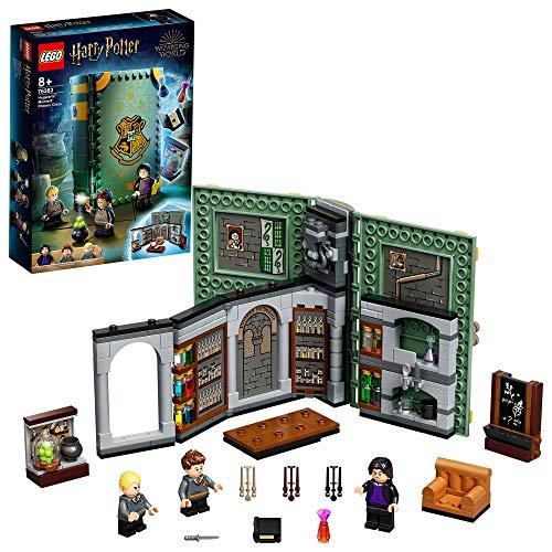 LEGO Harry Potter Lezione di Pozioni a Hogwarts, Playset da Collezione Portatile in Custodia da Viaggio, 76383