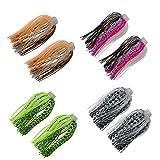 12 Bundles 88 Strand Silicone Jig Skirts DIY Rubber Jig Lures Random Color Quick Change Jig Skirt or...
