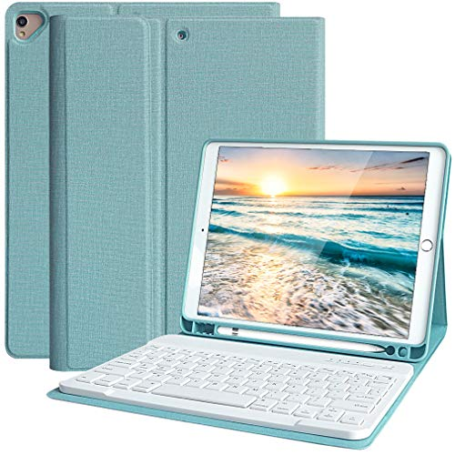 Funda Teclado iPad 10.2, Funda iPad 2020 con Ranura para Lápiz y Español (Incluye...