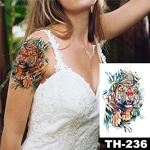tzxdbh Impermeable Etiqueta engomada del Tatuaje del Bosquejo ...