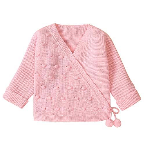 Haokaini pasgeboren baby Kintted vest trui baby peuter warme lange mouw kleine bal jas