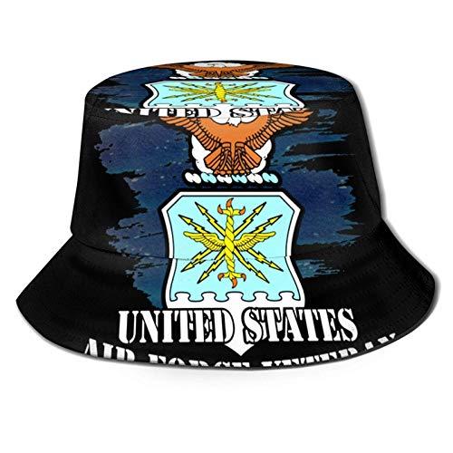 Lawenp US Air Force Veteran 3 Bucket Hat Unisex Plegable Summer Travel Bucket Boonie Sun Hat Gorra de Pescador al Aire Libre