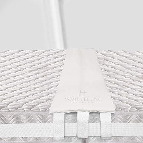 HF Home Feeling Premium Liebesbrücke [200x30cm] - Ideal für Familien & Paare - Matratzenkeil bombenfest Dank SafetyLock Gurt - Ritzenfüller für Matratzen