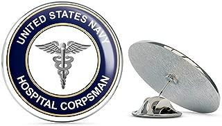 US Navy Hospital Corpsman HM Military Veteran USA Pride Served Gift Metal 0.75