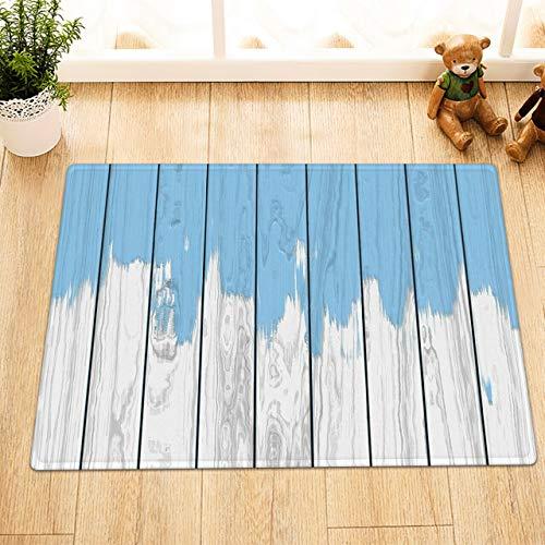 NNAYD1996 houten plank, antiek-look, blauw, 3D-print, badkameraccessoires, ingangsdeur, achterdeur, keuken, woonkamer, toilet