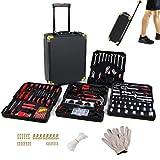 Trolley - Juego de 630 herramientas, caja de trabajo, maletín de aluminio, kit de llaves para aficiones, barcos, caravanas, herramientas profesionales
