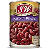 S & W • Canned Kidney Beans (12 Pack), Vegan, Non-GMO, Natural Gluten-Free Bean, Sourced and Packaged in the USA, 15 Ounce Can