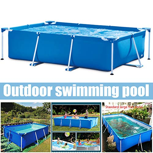 Swimming Pool, 87'X59'X24' Frame Above Ground Pool Full-Sized Lounge Pool for Kiddie, Kids, Adults, Easy Set for Backyard, Summer Water Party, Outdoor
