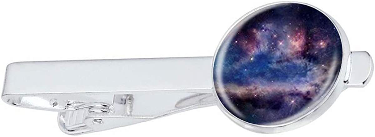 ! Super beauty product restock quality top! LooPoP Men Tie Clip Nebula Space Pins Stainless Max 47% OFF Business for