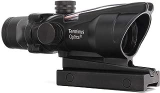 Terminus Optics Black TOC1 Red True Fiber BDC Reticle 4x32 Magnification Rifle Scope Terminus LLC