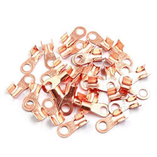30 Stück 150 A Ring aus Kupfer Kabelschuhe in Form eines Kabelschuhes, nicht isoliert, Batterie-Anschlusskabel