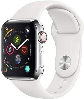 Apple Watch Series 4(GPS + Cellularモデル)- 40mm不锈钢表壳和白色运动表带