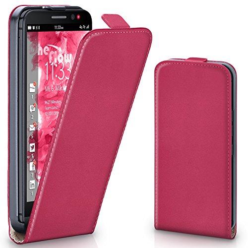 MoEx Flipcase kompatibel mit BlackBerry Z30 | Klapphülle Handytasche mit R&um Schutz - Handy Hülle Klappbar Flip Hülle, Pink