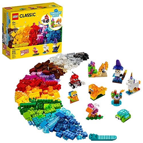 LEGO Classic Creative Transparent Bricks 11013 Building Kit with Transparent Bricks; Inspires Imaginative Play, New 2021 (500 Pieces)