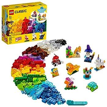 LEGO Classic Creative Transparent Bricks 11013 Building Kit with Transparent Bricks  Inspires Imaginative Play New 2021  500 Pieces