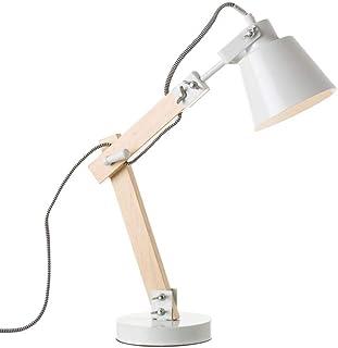 Lámpara flexo de madera blanca de diseño nórdica para salón Vitta - LOLAhome