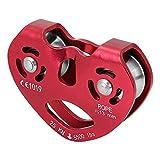 Alomejor 25KN Câble en Alliage d'aluminium pour Escalade, Rouge