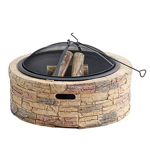 Brasero Exterior Piedra De Imitación BBQ Grill Patio Patio Jardín Chimenea para Acampar, Calefacción Al Aire Libre, Fogata Y Picnic (Color : Style 1)