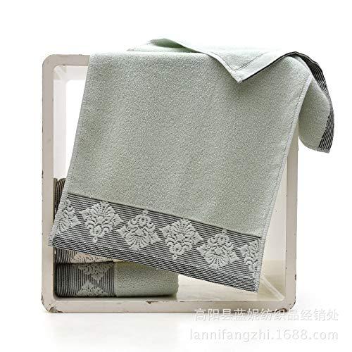 CMZ Toalla de Flores Europeas de algodón Puro Toalla Suave de Cara de Pareja Adulta Toalla de algodón Simple Absorbente (33x74cm)