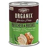 Castor & Pollux Organix Grain Free Butcher & Bushel Organic Chopped Turkey & Chicken Dinner Adult Canned Dog Food, (12) 12..7oz cans