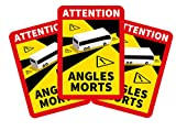 Lote Pegatinas BUS Francia · Atención Ángulo muerto - Protección UV - Especial para Autobuses, tamaño 17 x 25 cm - Normativa Francia señalización Autobuses (12)