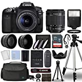 Canon EOS 90D Digital SLR Camera Body with Canon EF-S 18-55mm f/3.5-5.6 is STM Lens 3 Lens DSLR Kit Bundled with Complete Accessory Bundle + 64GB + Flash + Case/Bag & More - International Model