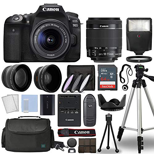 Canon EOS 90D Digital SLR Camera Body with Canon EF-S...