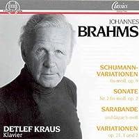 Brahms;Variations Op.9 & 21