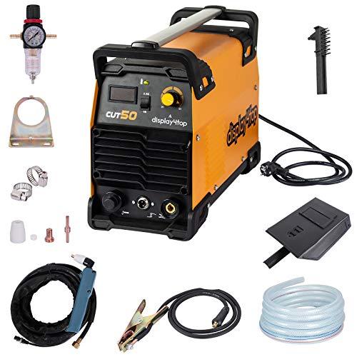 Display4top 220V CUT-50 Cortador de plasma,Pantalla LCD, ahorro de energía y sin ruido, alta velocidad de corte, espesor máximo de corte: 1-12 mm