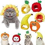 5 Piezas Sombreros de Mascotas Gorra de Perro Gato con Diseño de Dibujos Animados Sombreros de Accesorios Disfraces de Fiesta para Mascotas, Materiales Seguros de Animales y Ajustable